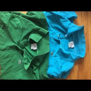 Lot of 2 Lacoste polo shirts size 6